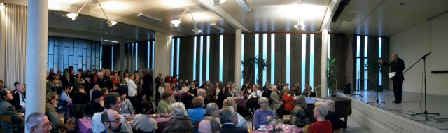 Bilder vom Neujahrsempfang des evangelischen Kirchenkreises Berlin-Schöneberg am Sonntag, 16. Januar 2011, in der Zwölf-Apostel-Kirchengemeinde.