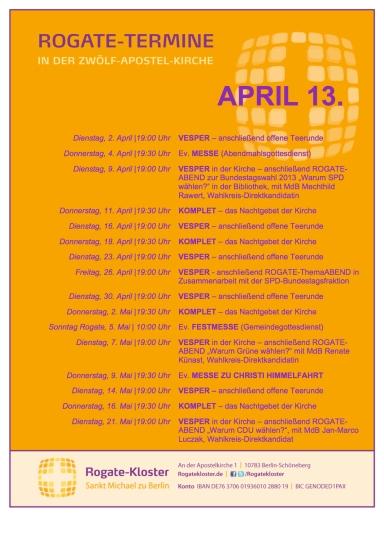 Monatsplan April 13