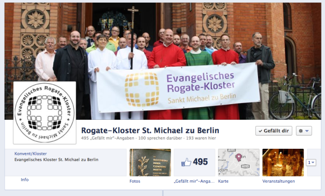 Bild: Aktuelle Startseite bei Facebook vom Gottesdienst zum Stadtfest mit Männer-Minne und Pfr. Schmidt