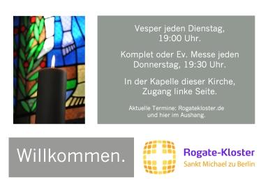 Zeiten der Winter-Horen Rogate-Kloster