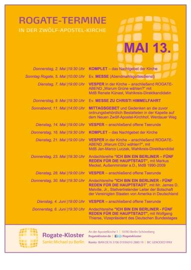 Rogate-Gottesdienste im Mai 2013