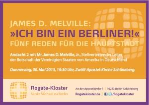 """Mr. James D. Melville: """"Ich bin ein Berliner"""""""