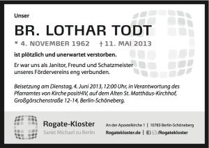 Traueranzeige Lothar Todt