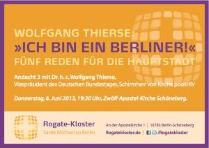 Wolfgang Thierse: Ich bin ein Berliner