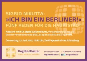 BVG-Chefin im Rogate-Kloster