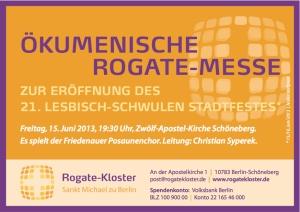 Rogate-Messe zur Stadtfest-Eröffnung des Regenbogenfonds