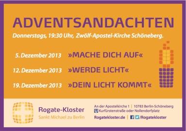 Rogate Advent 2013