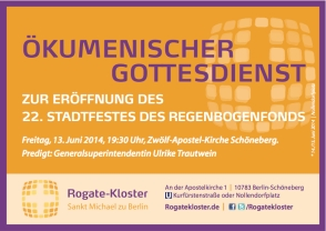 Einladung zum Stadtfest Motzstraße Nollendorfplatz