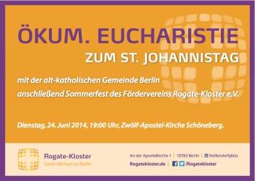 Eucharistie zum Johannistag