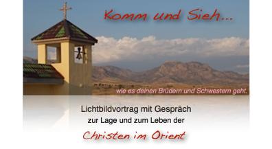 Vesper und Vortrag zur Lage und Leben der Christen im Orient