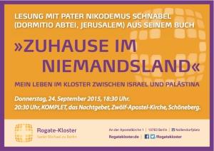 Einladung zur Lesung mit P. Nikodemus
