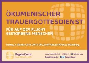 Rogate Kl_Postkarte_Trauergottesdienst Flüchtlinge_040915 Kopie